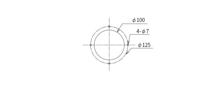 ダクトフランジ取付穴加工図