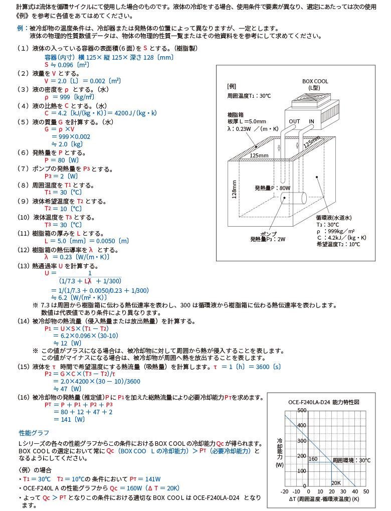 流体冷却型(空冷式・水冷式))〈循環サイクルの場合〉